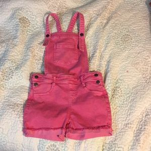 Cat and Jack pink overall shorts